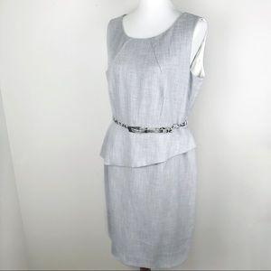 ANTONIO MELANI Peplum Suiting Sheath Dress